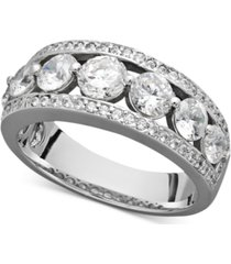 certified diamond band ring in 14k white gold (2 ct. t.w.)