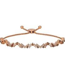 14k strawberry gold®, peach morganite™, chocolate diamond® & nude diamond® bolo bracelet