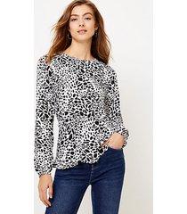 loft animal print peplum blouse