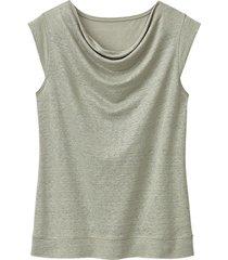 linnen jersey shirt, bleekgroen 36/38