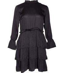 noella noella fikka dress black satin