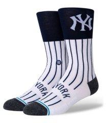 stance new york yankees color block crew socks