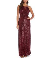 nightway sequin crossover gown