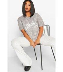 plus gelicenseerd metallica t-shirt, grijs