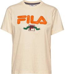 women halona tee t-shirts & tops short-sleeved creme fila