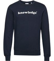 sallow knowledge sweat - gots/vegan sweat-shirt trui blauw knowledge cotton apparel