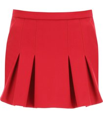 red valentino shorts with front panel