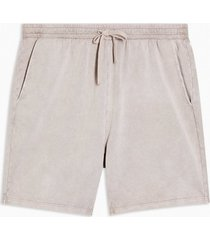 mens brown stone wash jersey shorts