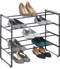 richards homewares 12 pair 4 tier shoe rack
