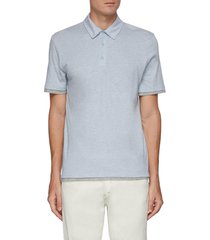 double layer gradient polo shirt