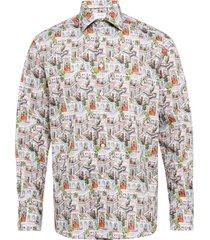 ragamala print shirt overhemd casual multi/patroon eton