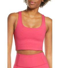 women's girlfriend collective paloma sports bra, size small - pink