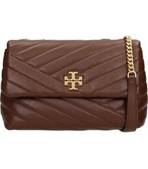 tory burch kira shoulder bag in brown leather