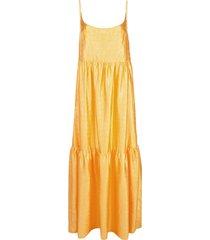 sies marjan brianna crocodile-embossed satin maxi dress - yellow