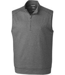cutter & buck men's big & tall shoreline half zip vest
