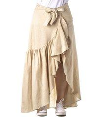 falda larga color beige cosmos