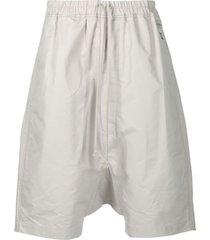 rick owens drkshdw drop-crotch shorts - neutrals