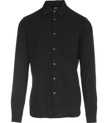 aspesi plain pique shirt