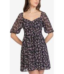 b darlin juniors' floral-print a-line mini dress