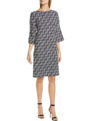 women's st. john collection stepped wicker inlay knit dress