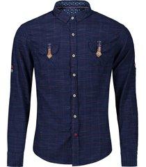 button cuff flap pockets plaid shirt