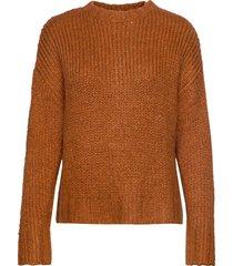 dhwillow knit pullover stickad tröja brun denim hunter