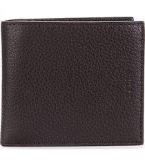 bally men's leather bi-fold wallet - coffee