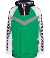 hmlchristian half zip hoodie trui groen hummel hive