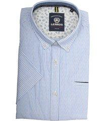 lerros overhemd lichtblauw met streep 2032158/440