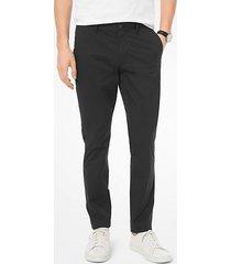 mk pantalone chino skinny in cotone stretch - nero (nero) - michael kors