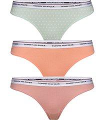 3p thong dot print stringtrosa underkläder multi/mönstrad tommy hilfiger