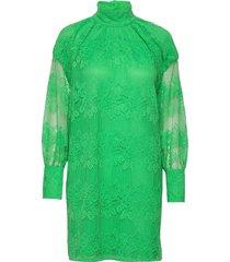 lace dresses lace dresses grön ganni