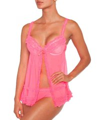 babydoll tul push up coral baziani