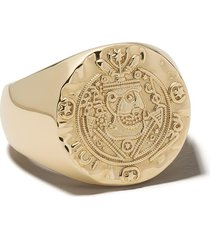 tom wood silk coin ring - gold