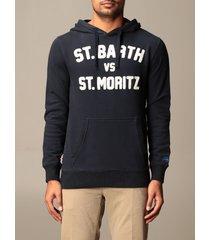 mc2 saint barth sweatshirt mc2 saint barth hooded sweatshirt with logo