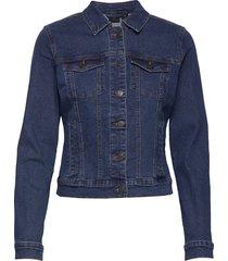 vmhot soya ls denim jacket mix noos jeansjacka denimjacka blå vero moda