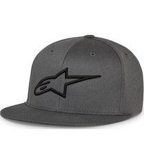 gorro ageless flat hat gris oscuro alpinestars