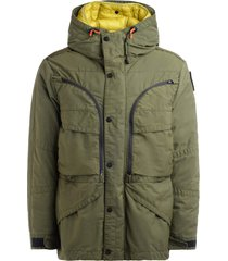 parajumpers alpha 3-in-1 hooded jacket with nylon twill shell and feather body warmer