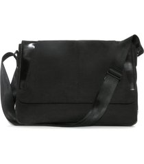 men's boconi collins canvas messenger bag - black
