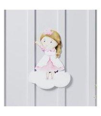 adesivo parede amiguinha princesa 26cm gráo de gente rosa