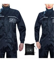 impermeable para motociclista tipo sudadera 100% impermeable