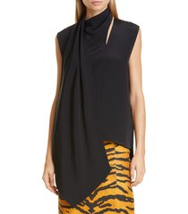 women's adam lippes scarf neck crepe blouse