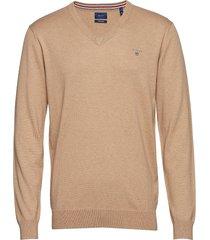 cotton wool v-neck gebreide trui v-hals beige gant