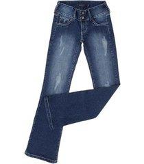 calça jeans tassa boot cut com elastano feminina