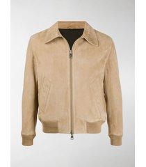 ami paris collared suede jacket