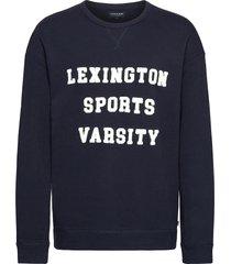 elio sweatshirt sweat-shirt trui blauw lexington clothing