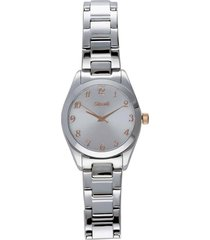belleville orologio in acciaio silver con quadrante bianco per donna
