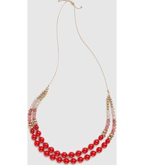 lane bryant women's convertible double-row beaded necklace onesz starfish coral