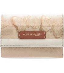 billetera mediana palo de rosa  farfalla