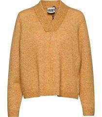 chica knit gebreide trui geel just female